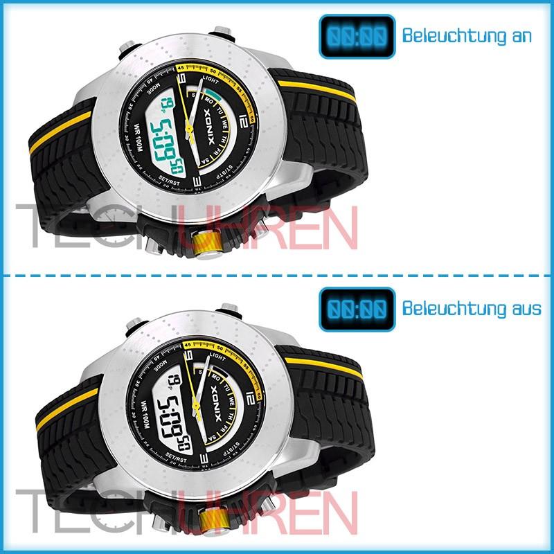 sportliche xonix armbanduhr f r ihn wr100m timer stoopuhr alarm ebay. Black Bedroom Furniture Sets. Home Design Ideas
